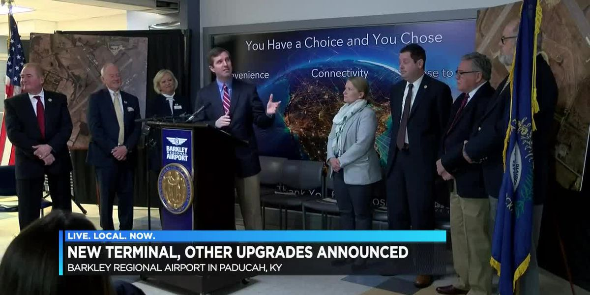 Ky. Governor announces new terminal and $5M for airport in Paducah