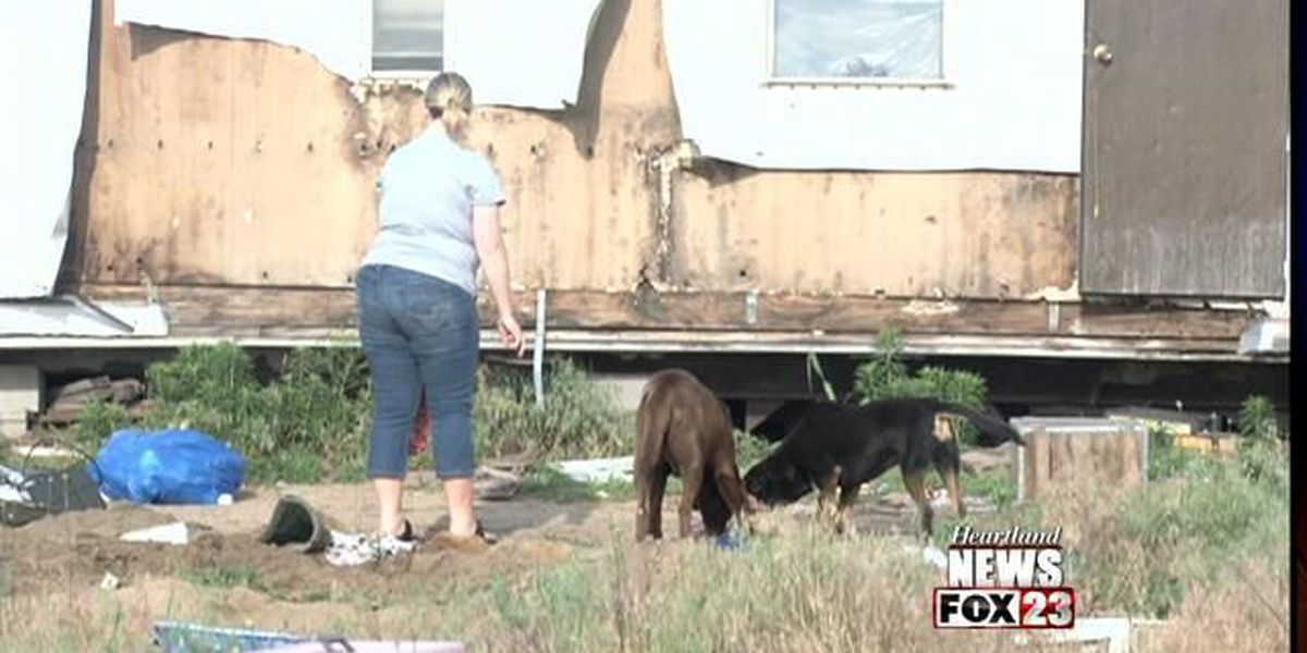 Animals rescued from abandoned mobile home