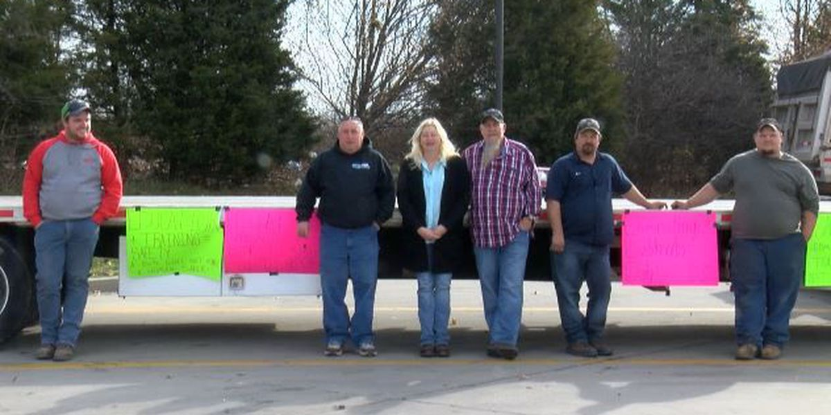 Truck drivers rally against new regulation effective in two weeks
