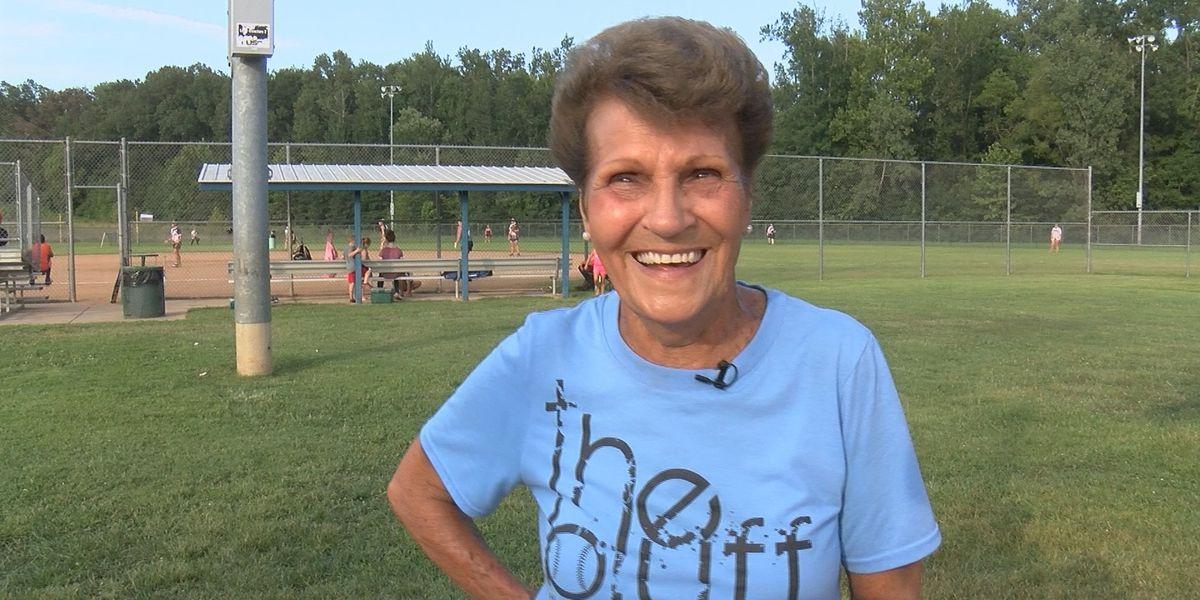 """Cause I like it, I love it."" 83-year-old woman still playing at Poplar Bluff softball field"