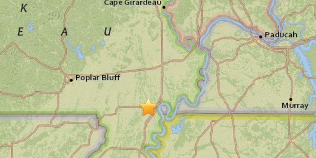 Small earthquake shakes near New Madrid Co., MO