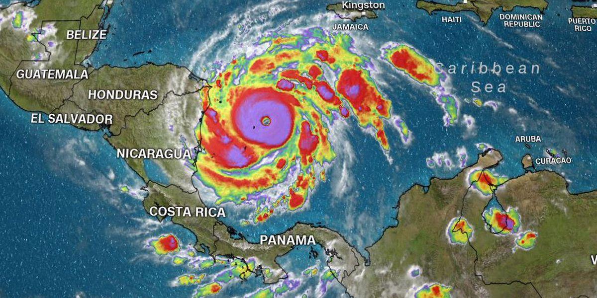 Dangerous Hurricane Iota makes landfall as Cat. 4 on Nicaragua coast