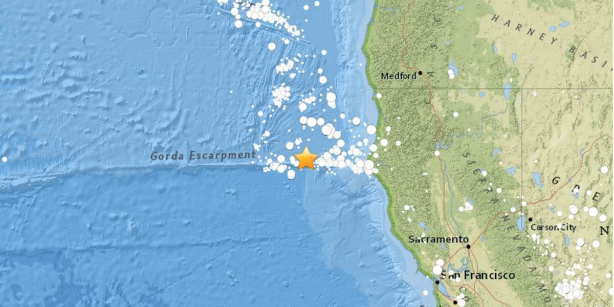 6.5 magnitude quake reported off the coast of California