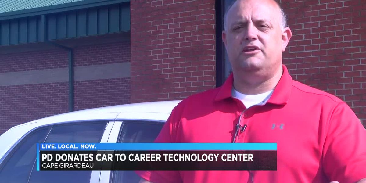 Cape Girardeau Police donate police car to Cape Career and Technology Criminal Justice Department