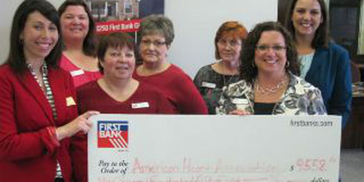 "First Bank employees make ""heartfelt"" contributions"