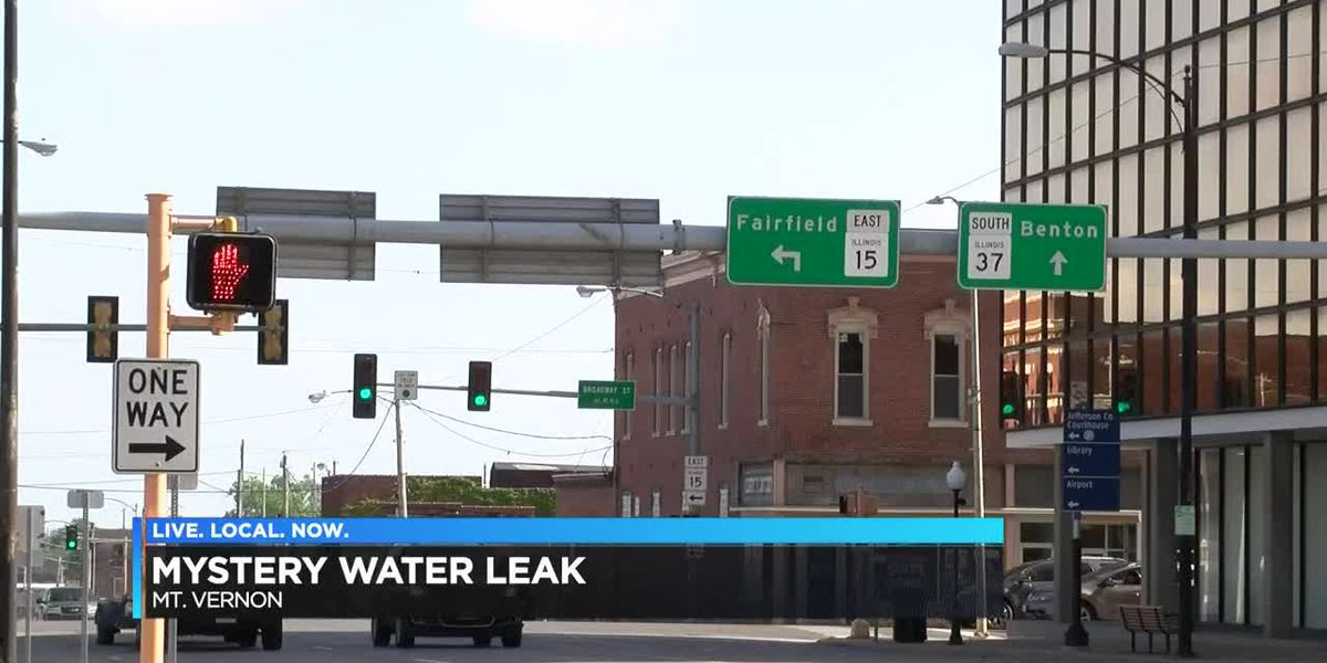 Mysterious water leak in Mt. Vernon, IL