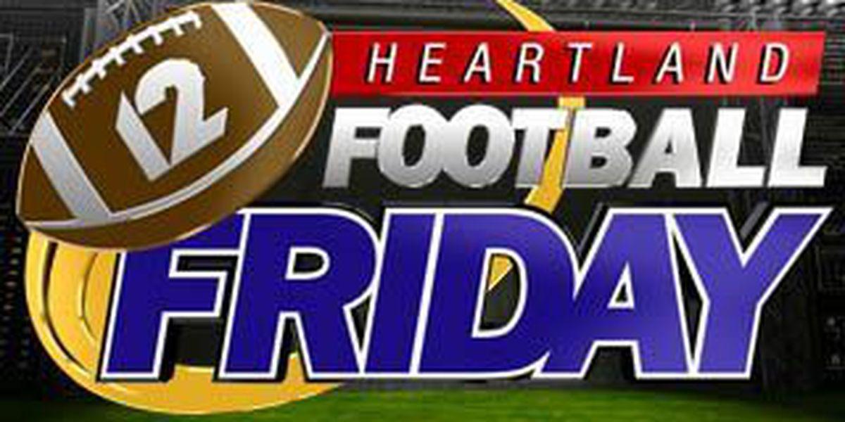 Heartland Football Friday games for 8/22