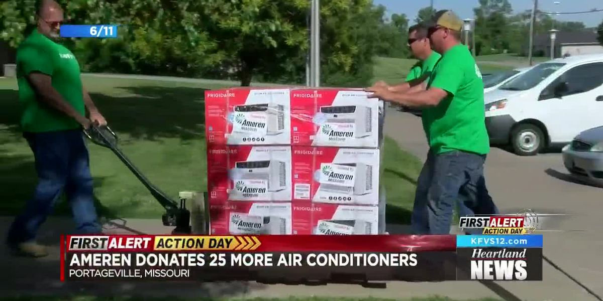 Ameren MO gives air conditioners to Portageville residents