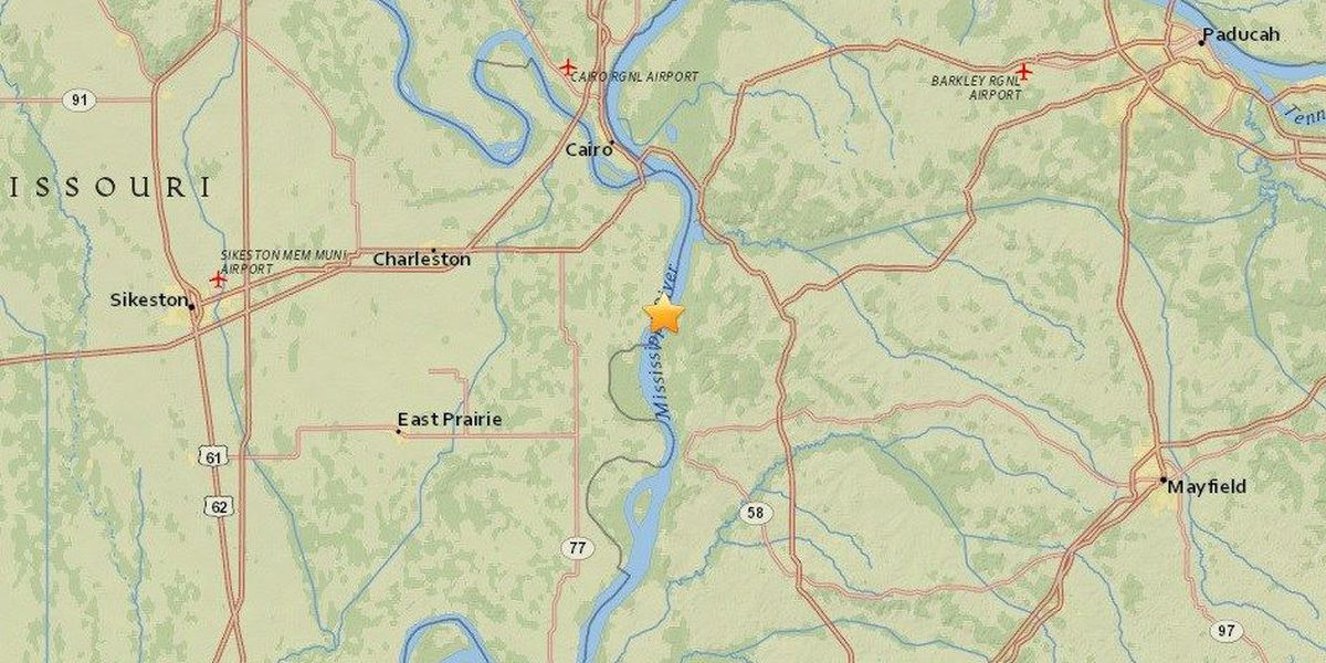 3.1 magnitude earthquake reported by USGS near Wyatt, MO