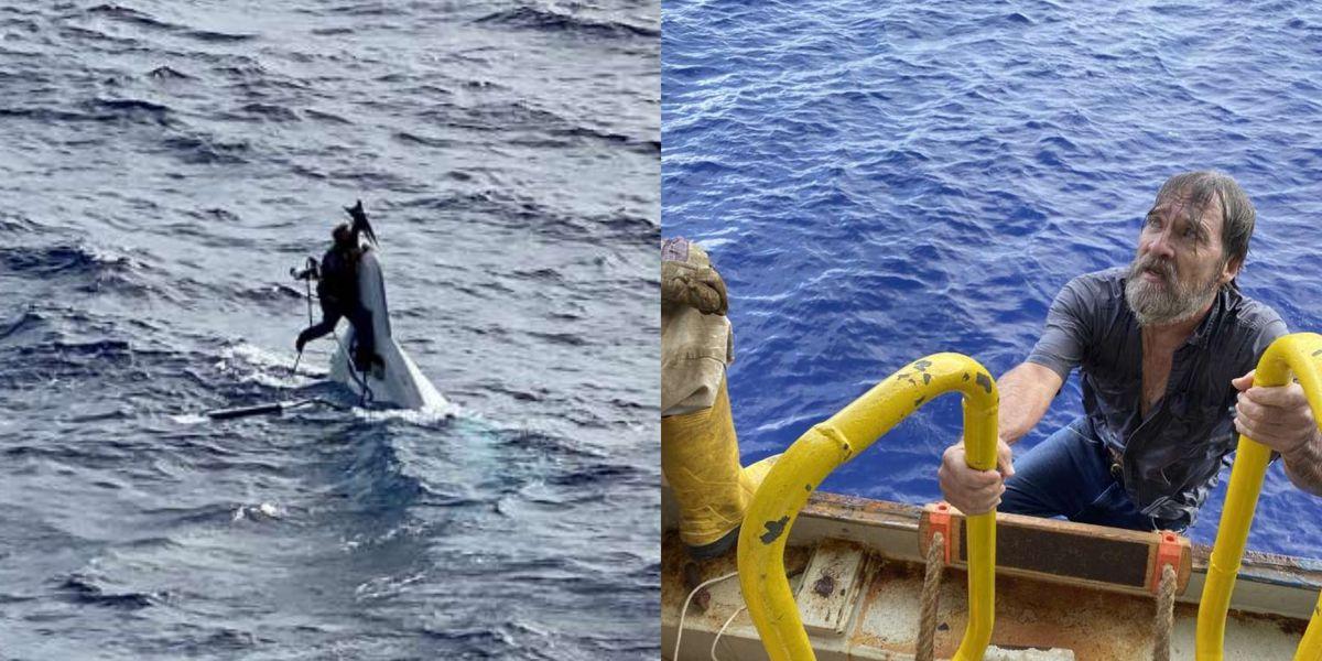 Coast Guard rescues man clinging to capsized boat 86 miles off Florida coast