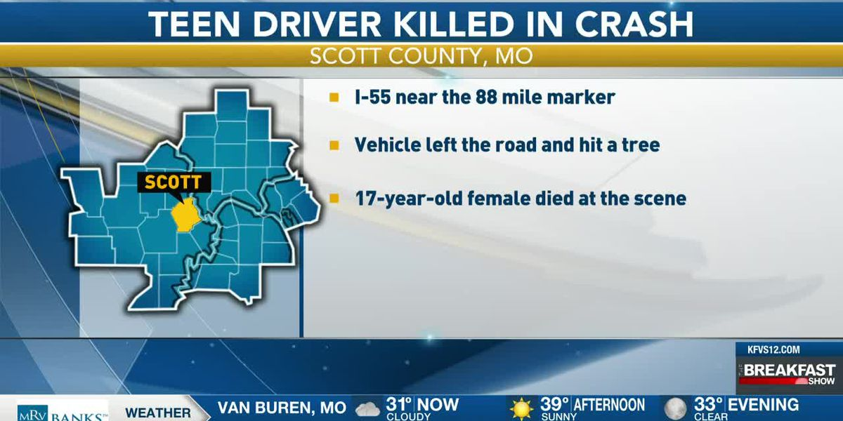 Teen killed in crash on I-55 in Scott Co.