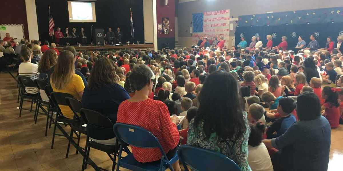 Constitution Day celebrated, heroes recognized at Alma Schrader Elementary