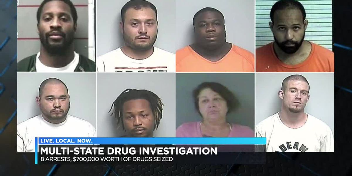 8 people arrested, more than $700K worth of meth seized in multi-agency drug bust