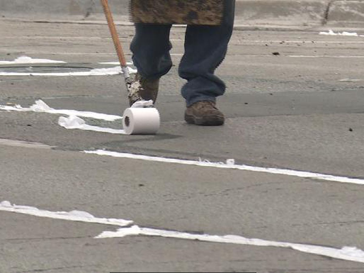 Road crews are lining the streets of Omaha with toilet paper, and it actually benefits drivers