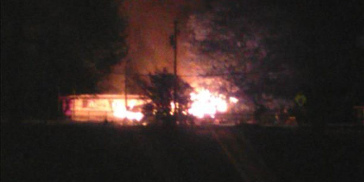 McClure home goes up in flames