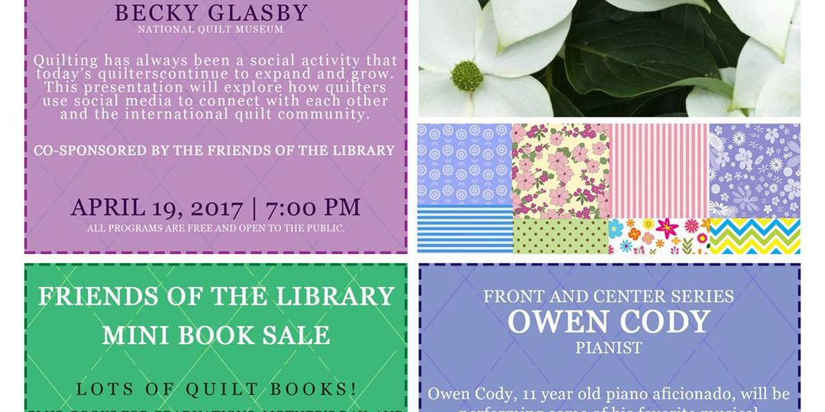 Becky Glasby to speak at McCracken County, KY Library's Quilt Week