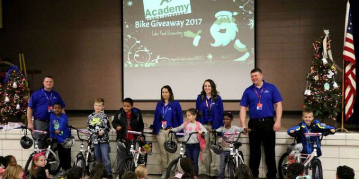 Academy Sports donates bikes to students at Lake Road Elementary in Poplar Bluff