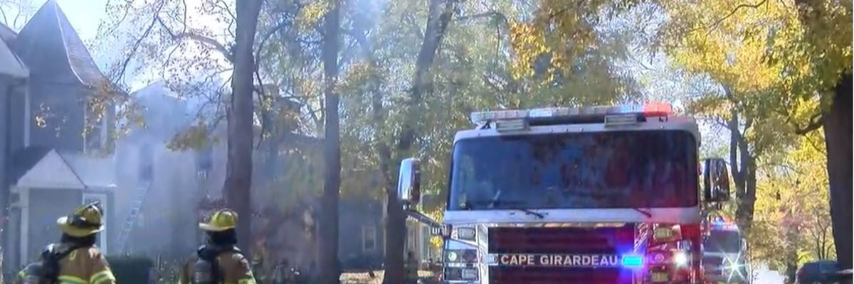 Crews respond to house fire on N. Frederick St. in Cape Girardeau