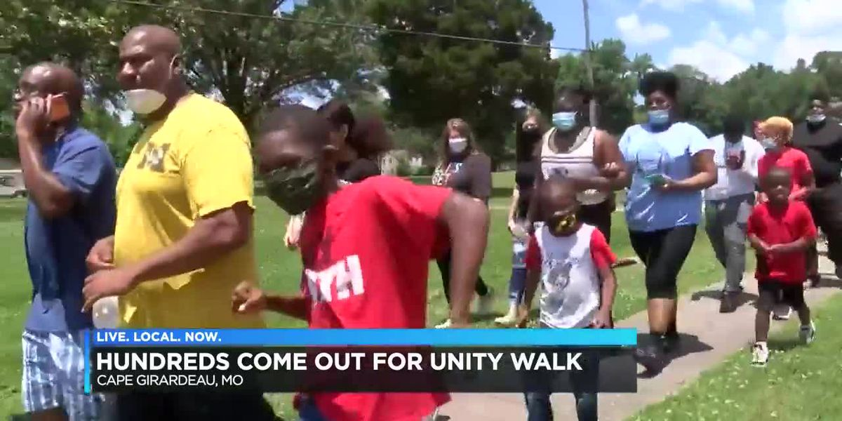 Demonstrators walk for unity in Cape Girardeau