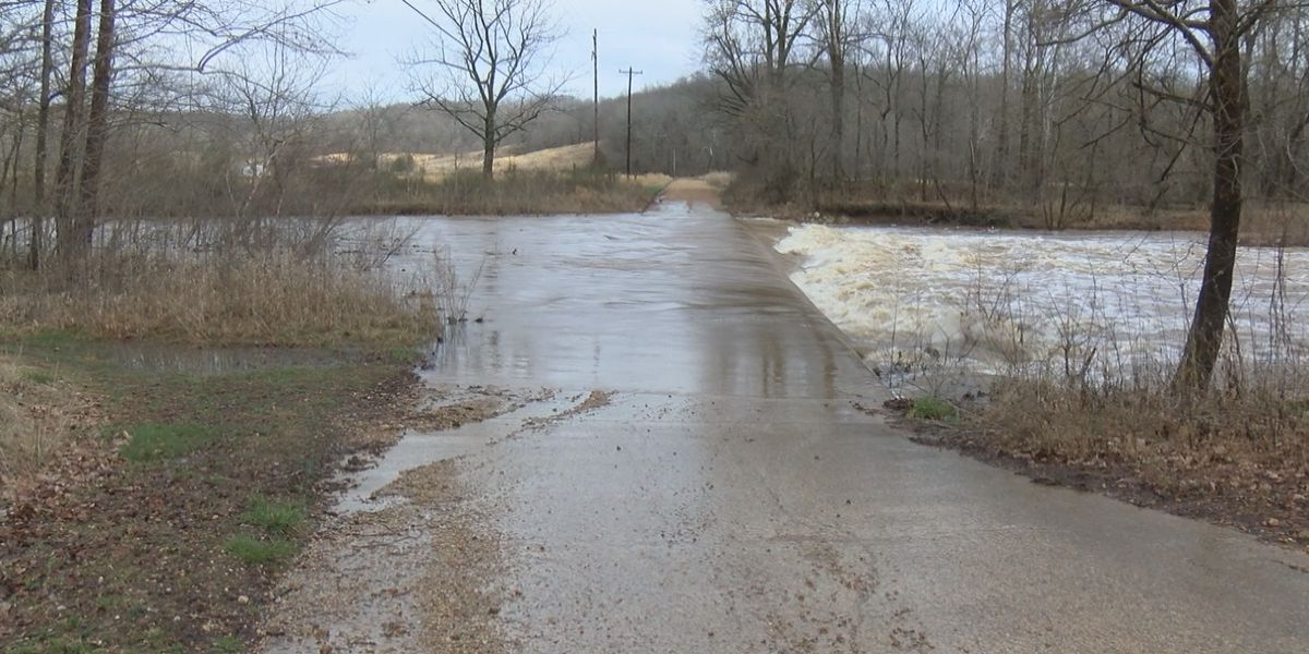 Impassable roads in Bollinger County due to rain