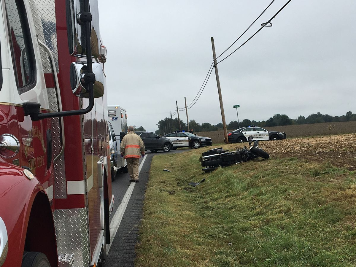 1 hospitalized following motorcycle crash in McCracken Co., KY