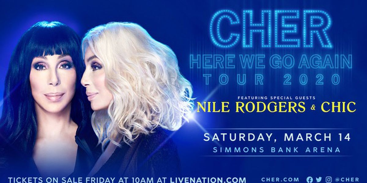 Cher concert set for North Little Rock and Memphis PPD, rescheduled for this fall
