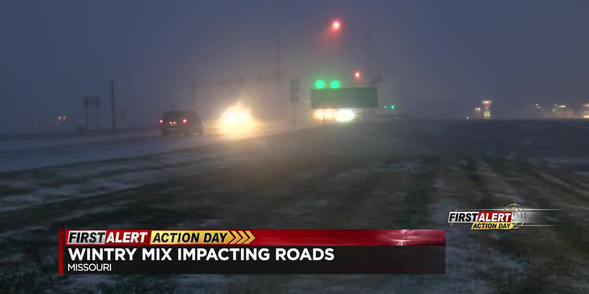 Winter weather impacting roads in the Heartland