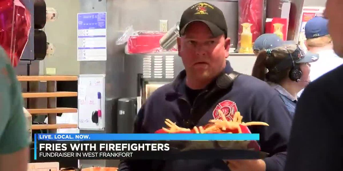 Fries with firefighters in West Frankfort