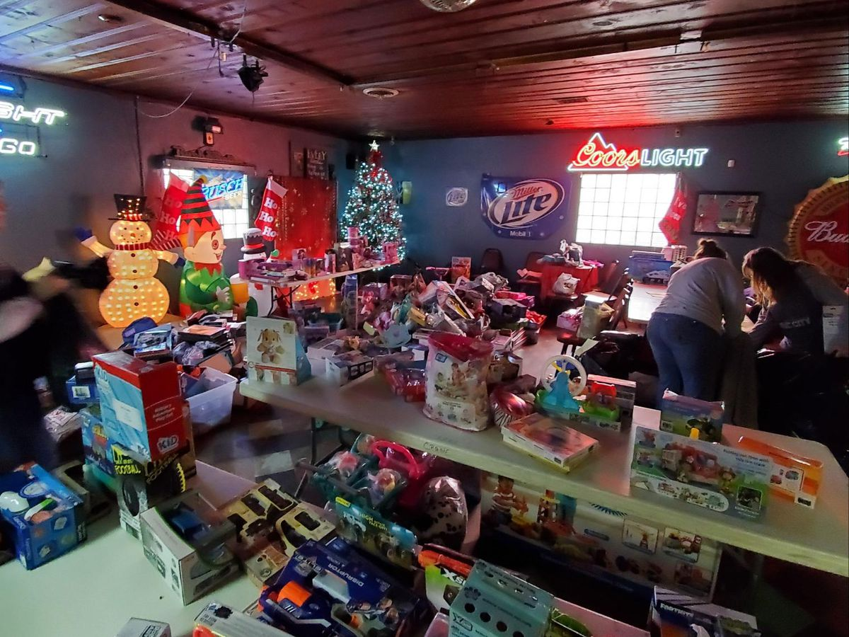 200 kids helped in Pulaski and Alexander County with a toy drive