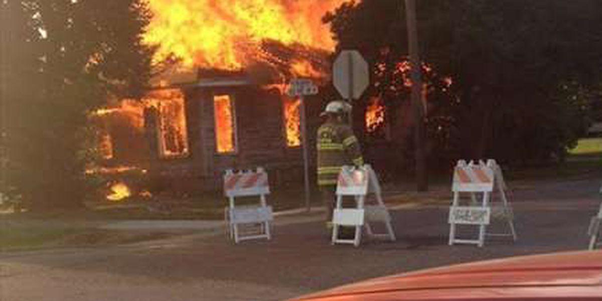 Dexter home burned in training exercise