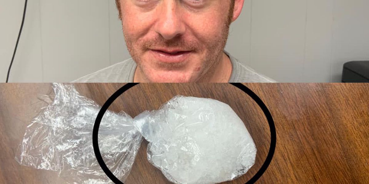 Man facing charges after deputy spots large bag of meth