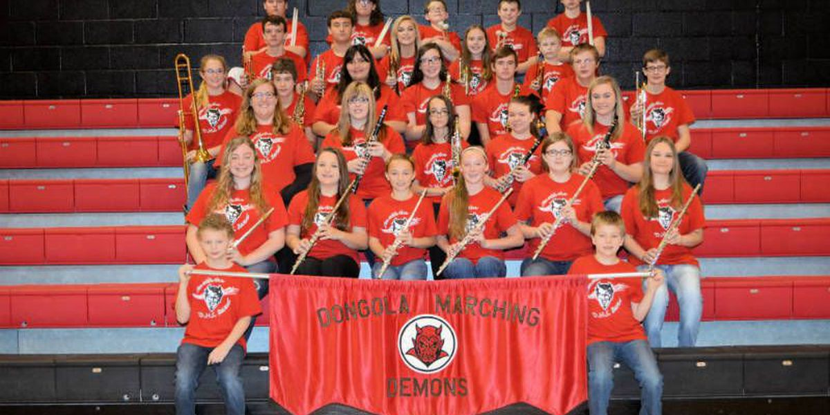 Dongola, IL students receive musical instrument donation