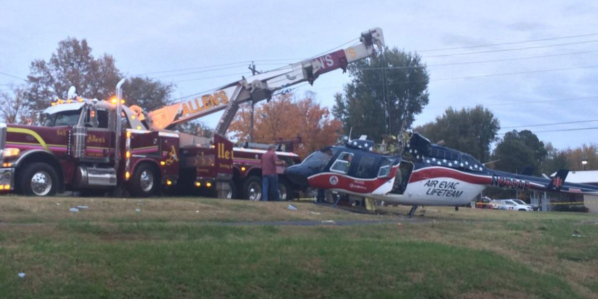 3 on board medical helicopter during 'hard landing' in Union City, TN