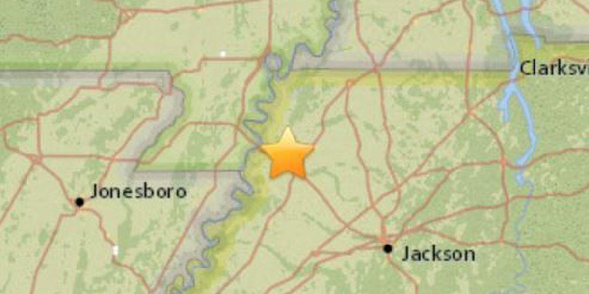 2.0 magnitude earthquake shakes TN, AR areas