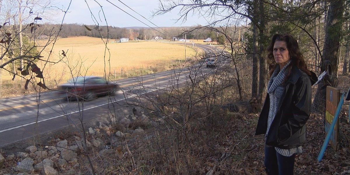 Heartland woman hopes to bring awareness of dangerous road