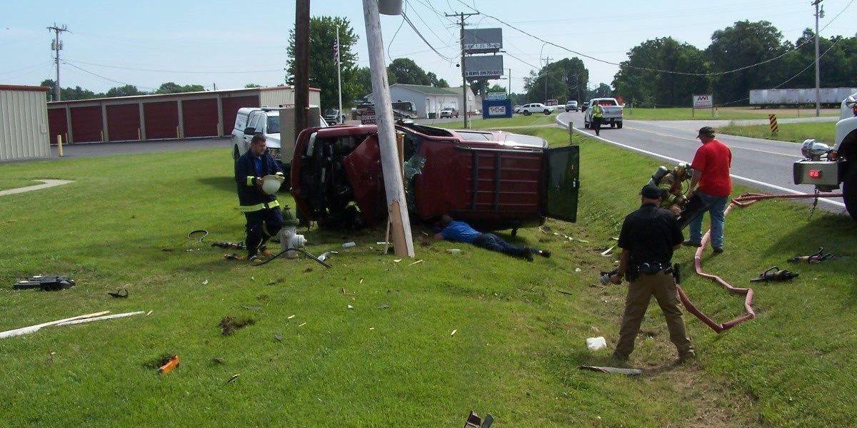 Cadiz, KY Driver critically hurt in rollover crash