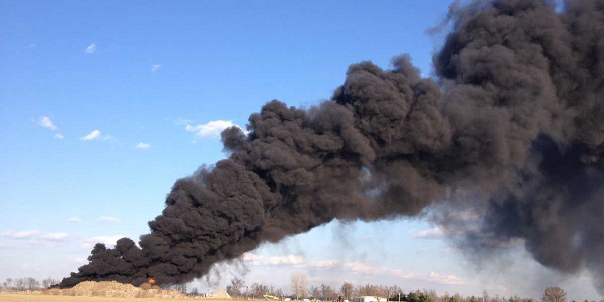 DNR investigating fire at highway department tire collection site