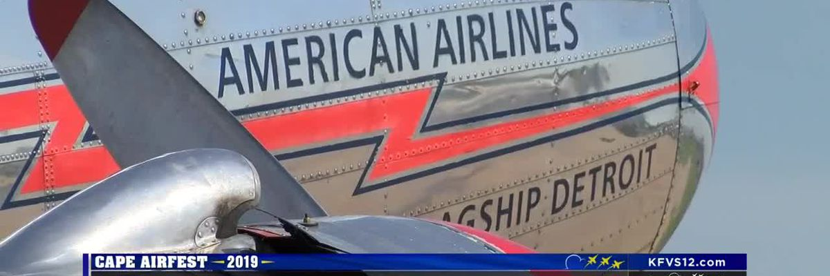 American Airlines flagship at Cape airshow