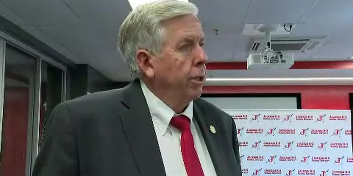 Gov. Parson visits Jackson, Mo., talks to school officials