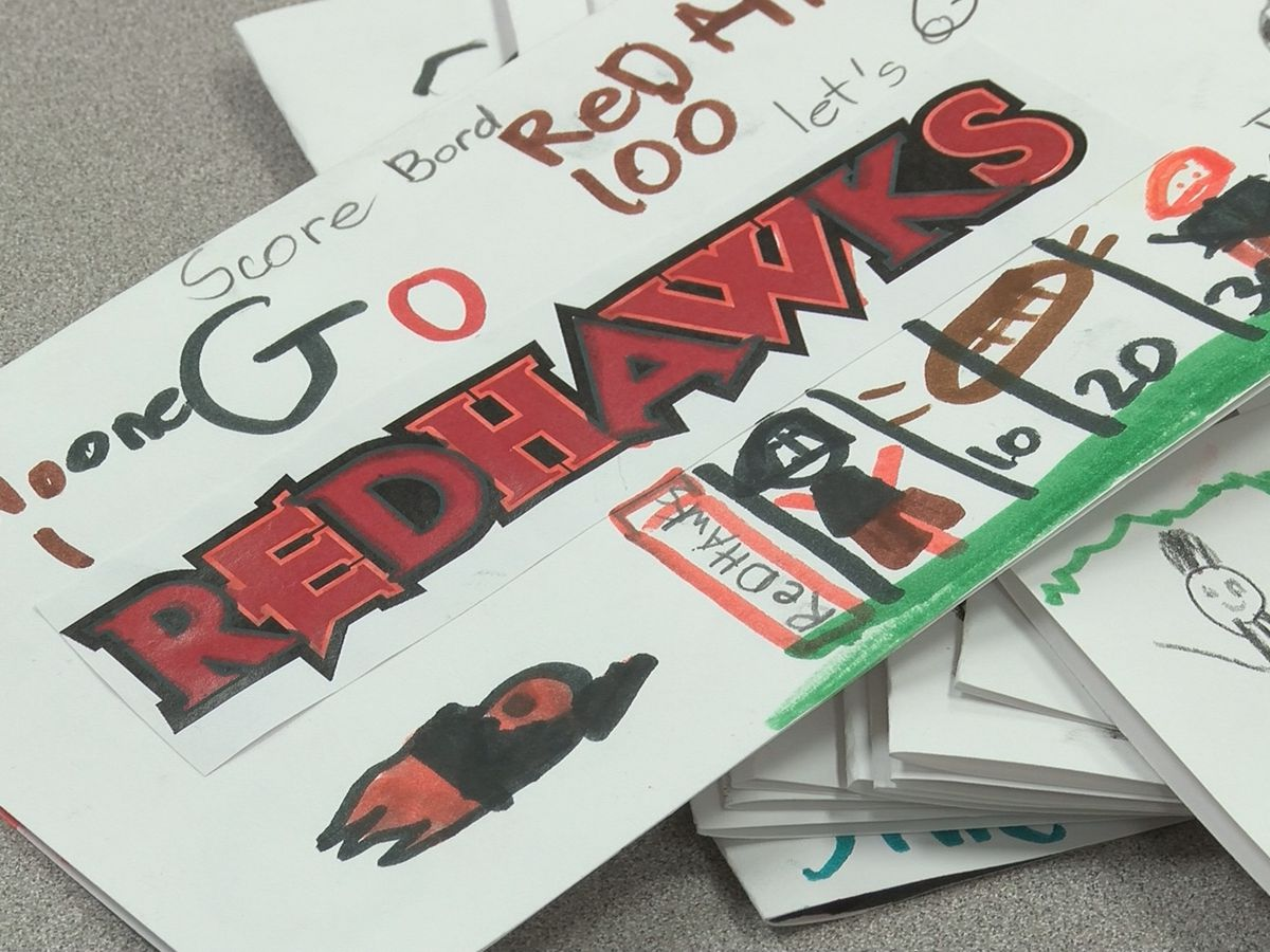 Local students wish the Redhawks good luck