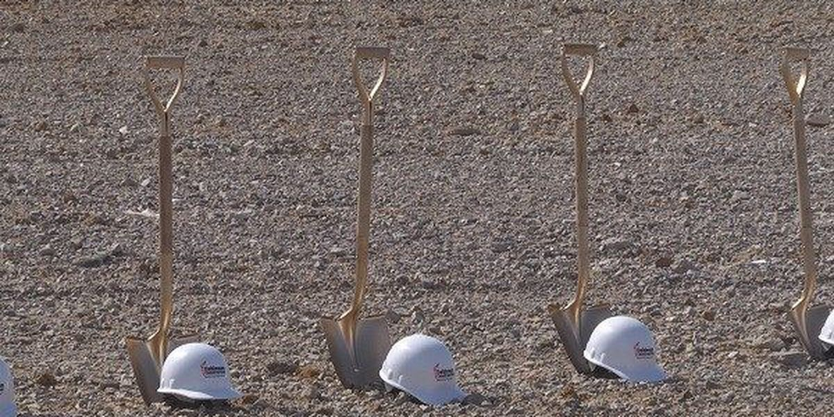 Atlas Roofing breaks ground on new building after fire destroys old warehouse