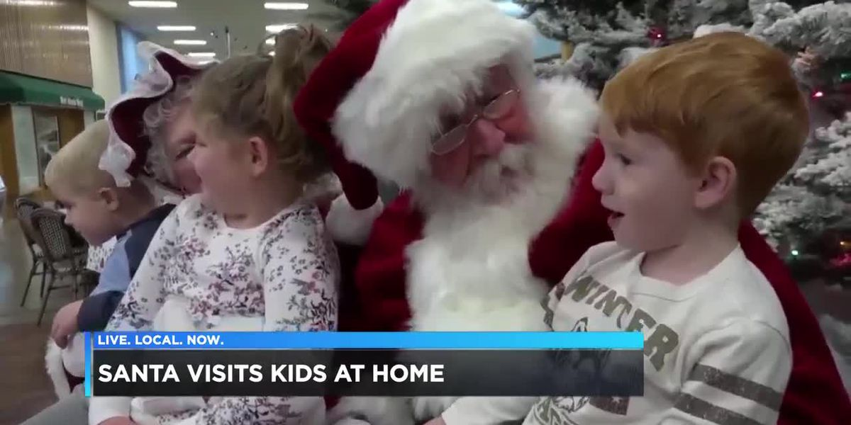 Santa visits hits at home