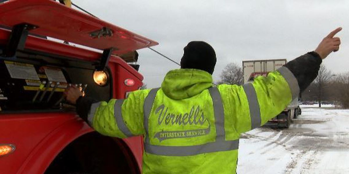 Tow companies busy with weather-related calls