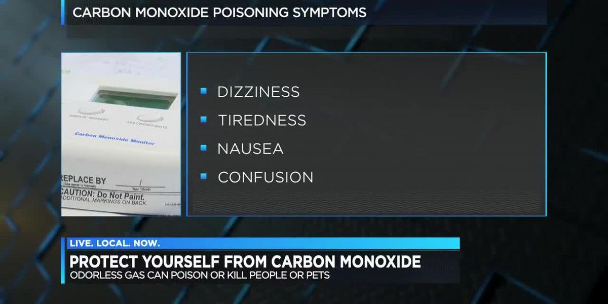 Carbon monoxide levels could be dangerous this time of year