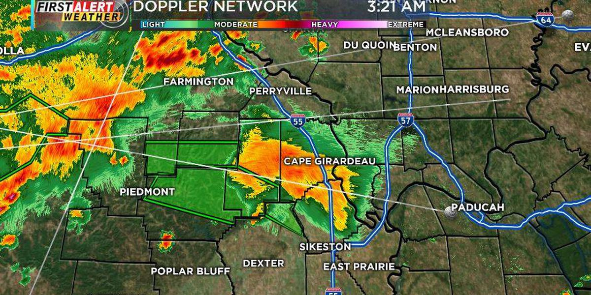 First Alert: Morning storms cause flash flood warnings