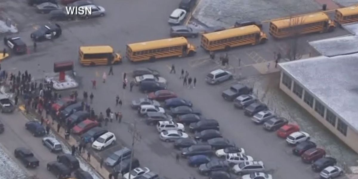 Officer shot armed student at Wisconsin high school