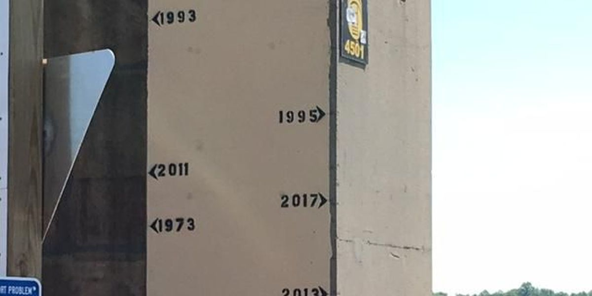 Historic river levels updated on Cape Girardeau river wall