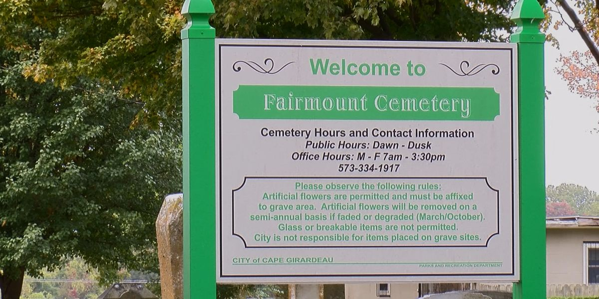 City of Cape Girardeau says New Lorimier and Fairmount cemeteries are almost full