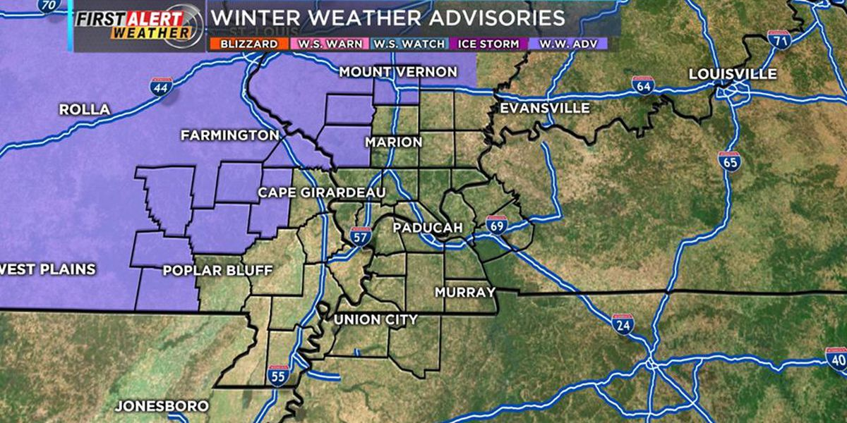 First Alert: Winter weather advisories issued for parts of Heartland