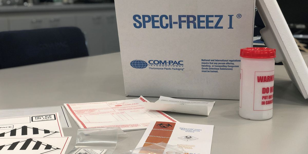 Carbondale manufacturing company produces worldwide COVID-19 specimen shipping kits